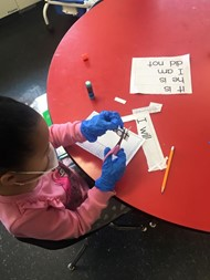 First Grade Students Perform Contraction Surgery