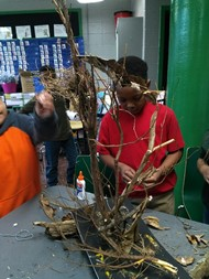 Students create their own habitats during Club Day.