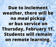 No Meal Pickup or Bus Service