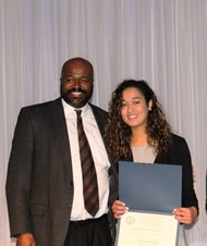 Garrison and scholarship recipient