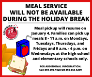 Meal Service Resumes January 4
