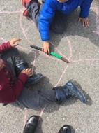 First Graders Use Their Measurement Skills Outdoors