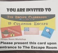 The Escape the Thirteen Colonies Opportunity for Club Day