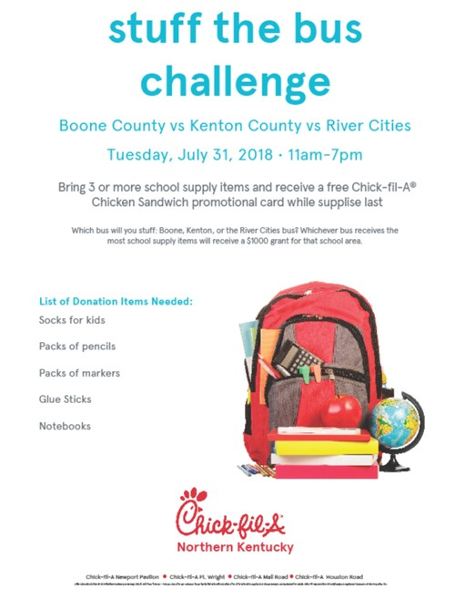 Help Covington Stuff the Bus with School Supplies - Ninth District