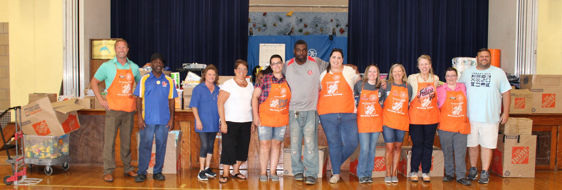 Home Depot Donates School Supplies