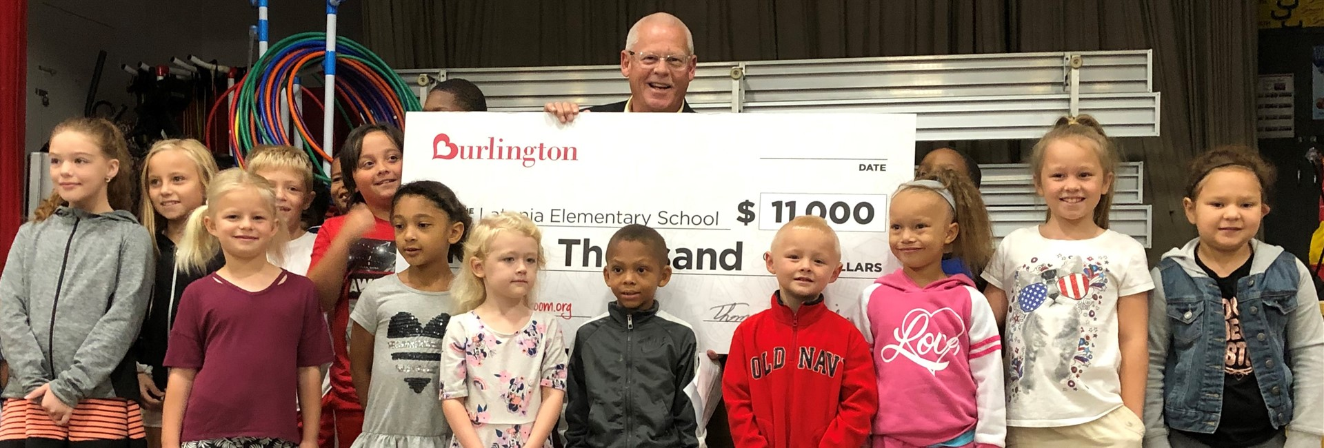 Burlington donates $11,000 through Adopt a Classroom!