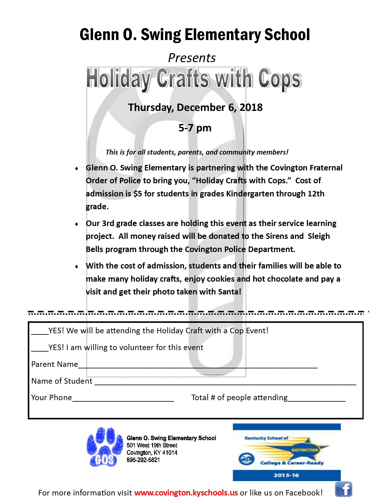 Holiday Crafts with Cops 2018