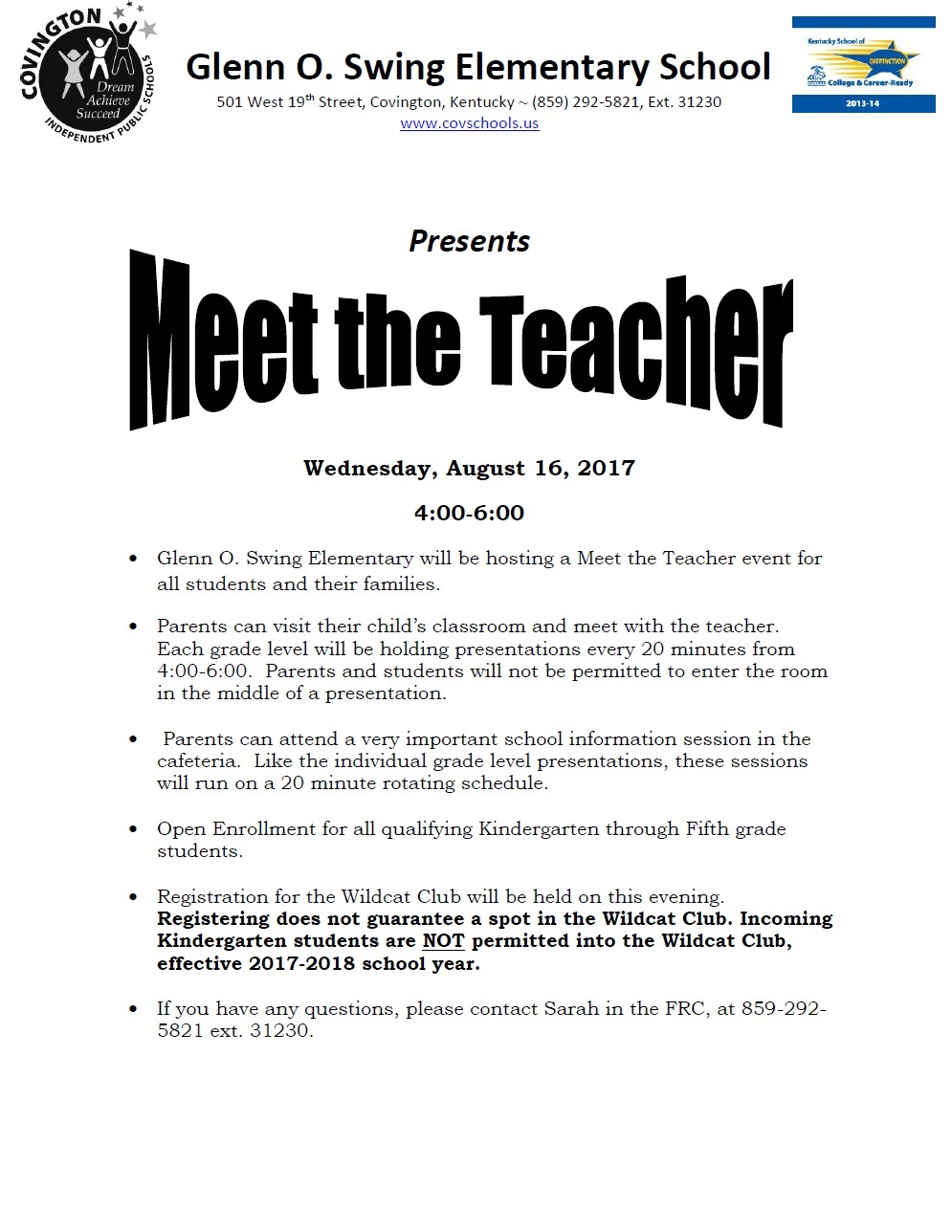 Meet the Teacher 17-18