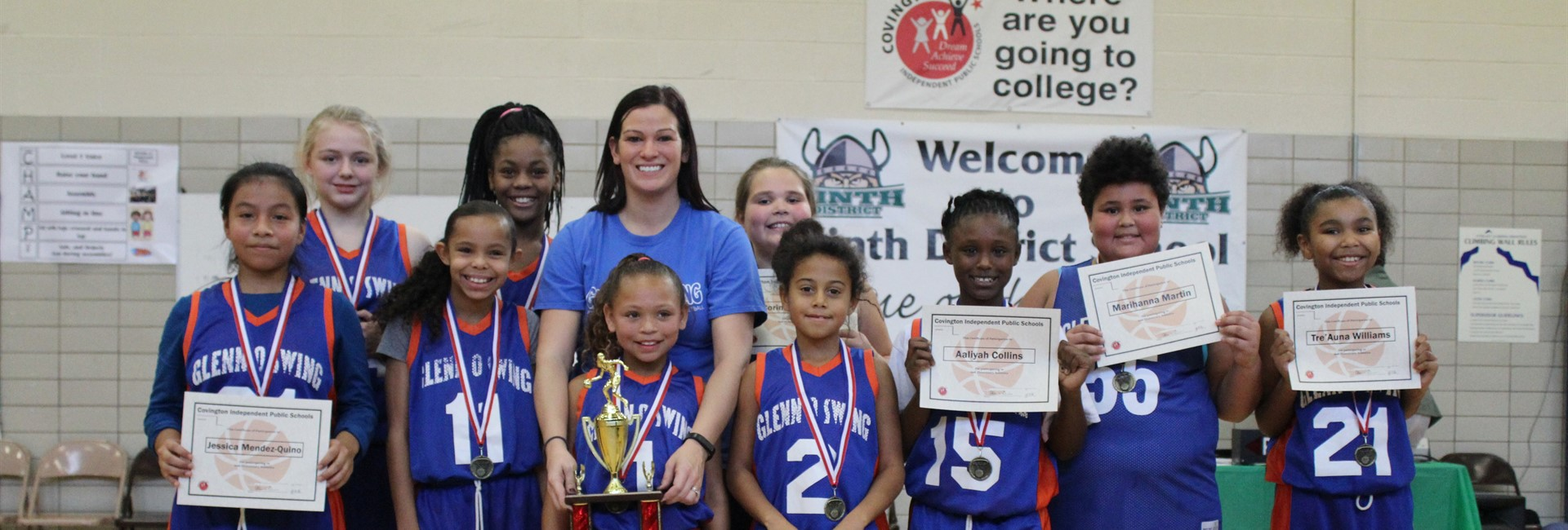 Glenn O. Swing's girls' basketball team wins the championship.