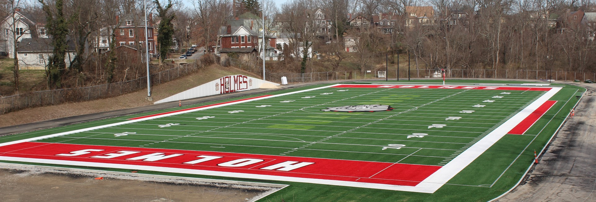 New turf field at Holmes High School