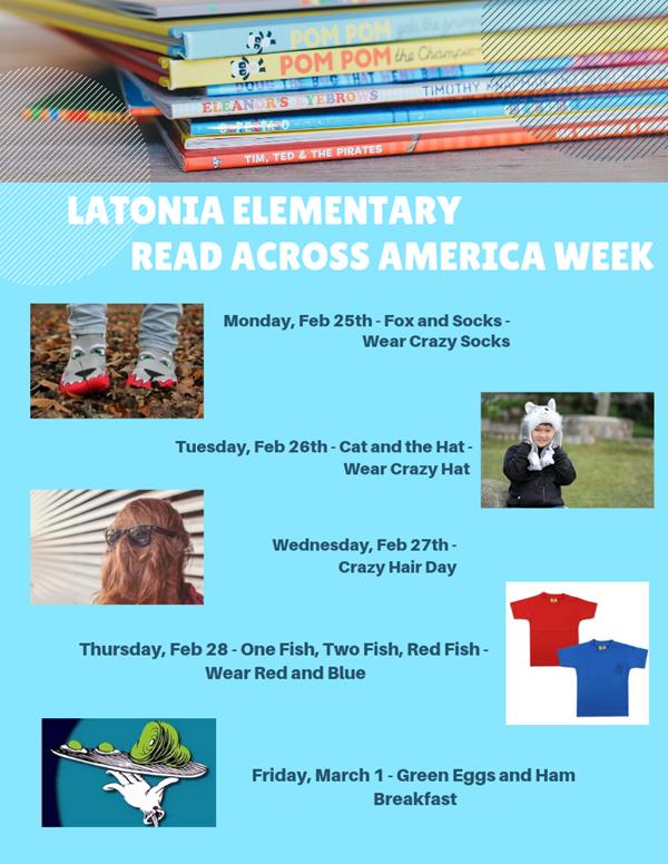 17a335b2 Read Across America Week February 25-29 - Latonia Elementary School